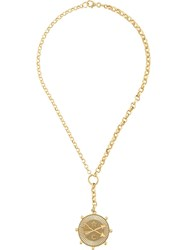 Foundrae 18Kt Yellow Gold Large Passion Diamond Medallion Necklace