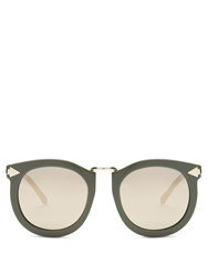 Karen Walker Super Lunar Oversized Sunglasses Khaki