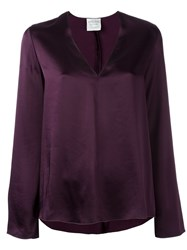 Forte Forte V Neck Blouse Pink And Purple