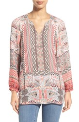 Women's Nic Zoe 'Prismatic' Print Split Neck Tunic