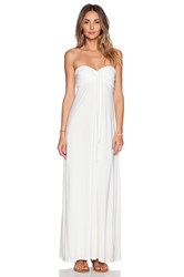 T Bags Losangeles Convertible Maxi Dress White