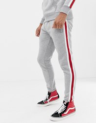 Good For Nothing Joggers With Side Stripe In Grey