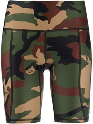 R 13 R13 Camouflage Print Bicycle Shorts 60