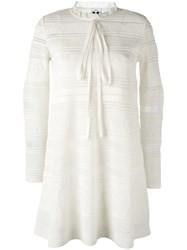 M Missoni Knitted Dress White
