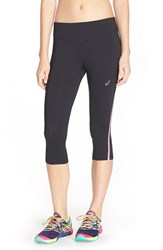 Women's Asics 'Lite Show' Capris Performance Black