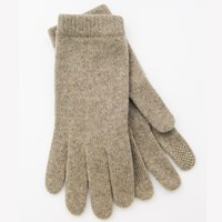 Portolano Tech Capable Cashmere Gloves Nile Brown