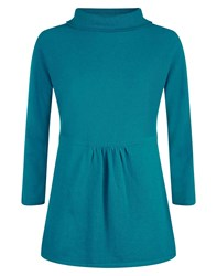 Havren Wide Roll Neck Jumper Teal