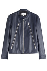Maison Martin Margiela Maison Margiela Leather Jacket Blue