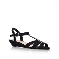Carvela Spain Low Wedge Heel Sandals Black