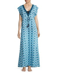 Michael Kors Printed Coverup Dress Blue