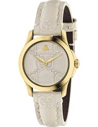 Gucci Ya126580 G Timeless Collection Yellow Gold Pvd And Leather Watch