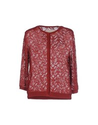 .. Merci Knitwear Cardigans Women Brick Red