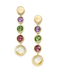 Marco Bicego Jaipur Semi Precious Multi Stone And 18K Yellow Gold Drop Earrings Gold Multi
