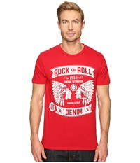 Rock And Roll Cowboy Short Sleeve T Shirt P9 9243 Red Men's T Shirt