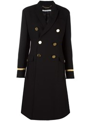 Givenchy Military Style Long Coat Black