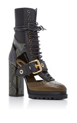Burberry Aster Eye Lace Up Boots Black
