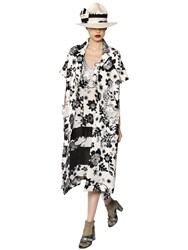 Antonio Marras Printed Lace And Cotton Jacquard Coat