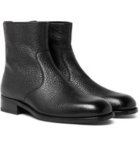 Tom Ford Textured Leather Boots Black