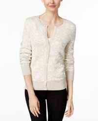 Charter Club Floral Print Cardigan Only At Macy's Vanilla Bean Combo