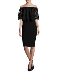 Shoshanna Off The Shoulder Lace Popover Sheath Dress