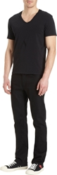 Barneys New York Basic V Neck Tee Black