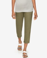 A Pea In The Pod Skinny Maternity Ankle Pants Olive