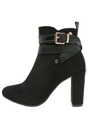 Xti High Heeled Ankle Boots Black
