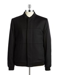 Tiger Of Sweden Wool Bomber Jacket Black