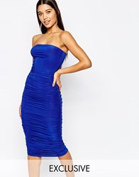 Club L Bandeu Midi Pencil Dress Cobalt