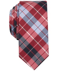 Penguin Alonso Plaid Skinny Tie Red