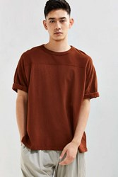 Urban Outfitters Uo Blocked Football Tee Brown