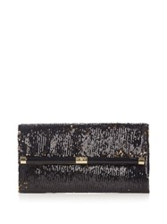 Diane Von Furstenberg 440 Envelope Clutch Black Gold