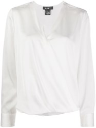 Dkny Wrapped Front Blouse 60