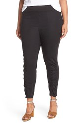 Plus Size Women's Xcvi Wearables 'Alexa' Poplin Leggings Black