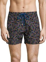 Paul Smith Multi Colored Paisley Printed Swim Shorts