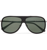 Tom Ford Chris Aviator Style Acetate Sunglasses Black
