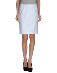 Elie Tahari Knee Length Skirts White