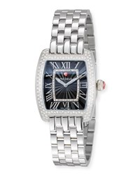 Michele Urban Mini Diamond Bracelet Watch Black