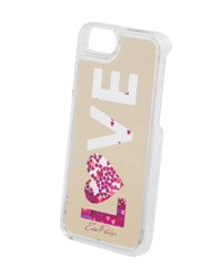 Edie Parker Floating Love Star Glitter Phone Case Yellow Pink