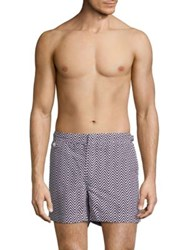 Ralph Lauren Mayfair Zigzag Swim Trunks Black White