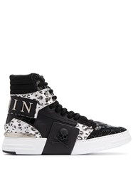 Philipp Plein Phantom Kick High Top Sneakers Black