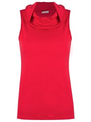 Lygia And Nanny Cowl Neck Blouse Red