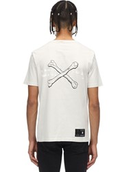 Unravel Printed Cotton Jersey T Shirt White