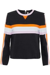 No Ka' Oi Color Block Cotton Blend Terry Sweatshirt Black