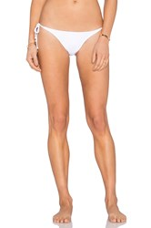 Ondademar Side Tie Bikini Bottom White