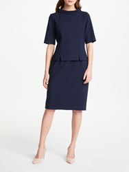 Bruce By Bruce Oldfield Double Layer Picture Collar Dress Navy