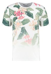 Only And Sons Onspalm Flower Print Tshirt White