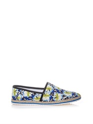 Mother Of Pearl Animal And Flower Print Espadrilles