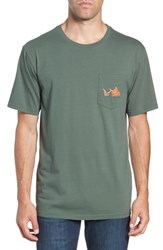 Southern Tide Sunset Graphic Pocket T Shirt Duck Hunting Green