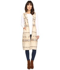 Dylan By True Grit Beacon Blanket Long Vest With Hood Natural Chambray Women's Vest Neutral